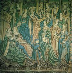 Tapestry portraying the wedding of Catherine of Aragon and Arthur Tudor, eldest son of Henry VII and Elizabeth of York History Of England, Tudor History, European History, British History, Uk History, Vikings, Elizabeth Of York, Tudor Dynasty, Catherine Of Aragon