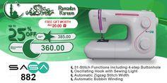 SASA 882 #ramadan #kareem #discount #sale #sewing #machine #sasa #stitch #fashion #online #mall