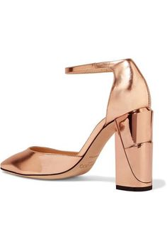 Jimmy Choo - Mabel Mirrored-leather Pumps - Pink - IT