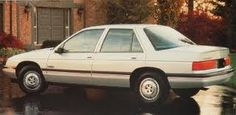 I couldn't fit a baby car seat and a bag of groceries in my car so we got a 1988 Chevy Corsica....drove it till it died #2