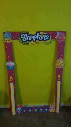 Shopkins photo frame