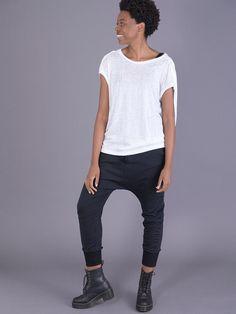 fe8bea77f69 T-shirt oversize avec épaules détaillées - Blanc