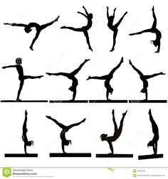Gymnastics Silhouettes - Download From Over 45 Million High Quality Stock Photos, Images, Vectors. Sign up for FREE today. Image: 16622273
