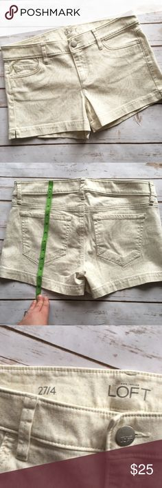 """Loft light paisley patterned shorts Brand new, no tags these are a very light beige/cream with tan paisley pattern throughout. Stretchy, 3"""" inseam LOFT Shorts Jean Shorts"""