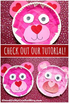 Paper Plate Valentine Bear – Kid Craft Idea For Valentine's Day Bear Valentines, Valentine Day Crafts, Toddler Preschool, Toddler Activities, Valentine's Day Crafts For Kids, Kid Crafts, Our Kids, Paper Plates, Diy