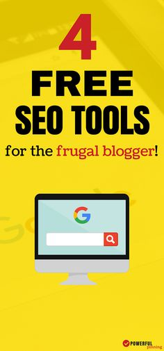 SEO Tips: Check out these 4 free SEO tools to help bring more traffic to your blog! #SEOtools #bloggingtips Seo Marketing, Online Marketing, Free Seo Tools, Seo For Beginners, Pinterest Design, Make Money Blogging, Earn Money, Seo Tips, Pinterest Marketing