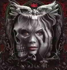 Admirers of gothic art will love this 2017 Spiral Gothic calendar! Tattoo Drawings, Body Art Tattoos, Sleeve Tattoos, Art Drawings, Dark Fantasy Art, Arte Lowrider, Beautiful Dark Art, Totenkopf Tattoos, Skull Artwork