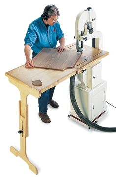 this would make it a lot easier to work on the band saw                                                                                                                                                                                 More #woodworkingtools