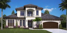 Coastal Florida Mediterranean Elevation of Plan 75985