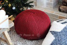 pouf knitting pattern