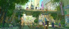 Concept Arts de Cory Loftis para o filme Zootopia (post #2) | THECAB - The Concept Art Blog