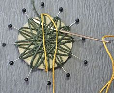 Rustic twine flowers (or jute flowers) are easy to make and adorable to use for whatever accessorizing you have planned. You can put them on vases, picture frames, Headbands, scrapbooks, homemade cards  etc. even you can use them for country wedding decor. What needed: Twine (cording, yarn, jute etc.) 2 inch circle cardboard 12 straight