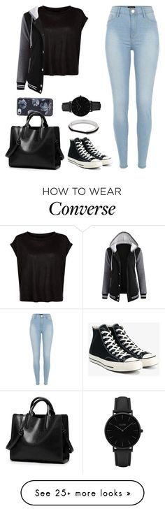 """Untitled #1726"" by blossomfade on Polyvore featuring River Island, Kate Spade, Converse and CLUSE"