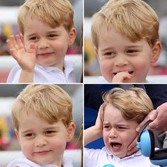 What a cutie pie! William & Kate enjoyed a day out at the Royal International Air Tattoo in Gloucestershire with Prince George 🇬🇧👑 @dailymail