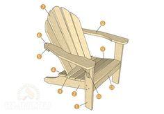 Как сделать стул или кресло из дерева: адирондак своими руками