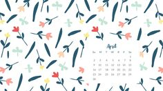 Get this FREE Desktop Wallpaper for April and celebrate the new month! Inspired by Spring colors and bright florals!