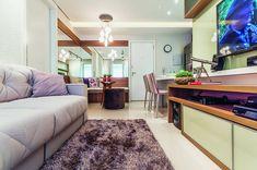 Projeto de apartamento aposta em elementos neutros e elegantes sala1