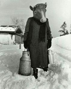 Herbert List  Carnival on skis, Germany, 1960