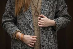 Curved Wood Jewelry From Natural Materials