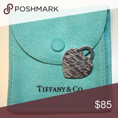 Tiffany & Co. Heart Tag Pendant Charm AUTHENTIC Tiffany & Co., 727 Fifth Avenue' Heart Tag Pendant Charm, Sterling Silver, Barely worn, in great condition Tiffany & Co. Jewelry Necklaces