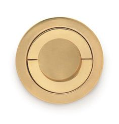modern, gold recessed ring pull // P.E. Guerin Product #pull #gold #round