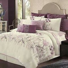 Tropical purple Bedspreads and Comforters | The White Bedspreads: Comfortable White And Purple Bedding Bedspreads ...
