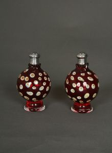Pair of Hand Blown Glass Multicolor Sphere Picnic Salt & Pepper Shakers. $79.95 www.ctlighting.com #holidaygifts