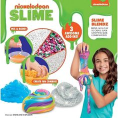 Nickelodeon Slime Blendz Kit by Cra-Z-Art Zany Zoo, Mermaid Slime, Bed For Girls Room, Rainbow Slime, Kinetic Sand, Bouncy Castle, Z Arts, Play Doh, Birthday List