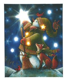 Take a look at this Fox & Snowman LED Canvas by Transpac Imports on #zulily today!