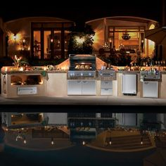 Lynx's complete line of outdoor kitchen products combines advanced proprietary technologies and refined features that you can use to design your own outdoor cooking center.    http://www.authenteak.com/Lynx-Grill-Appliances-and-Accessories/Lynx-Grill-Appliances-and-Accessories.asp