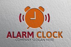 Alarm Clock Logo by josuf on Creative Market Sound Logo, Clock Sound, Construction Logo Design, Company Slogans, Textures Patterns, Alarm Clock, Wordpress Theme, Templates, Logo Ideas