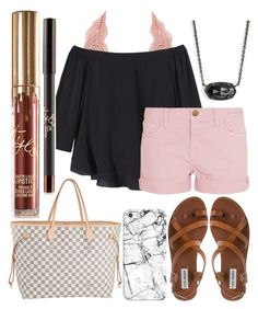 """Shopping"" by jadenriley21 ❤ liked on Polyvore featuring Charlotte Russe, Rebecca Taylor, Current/Elliott, Casetify, Steve Madden, Kendra Scott and Louis Vuitton"