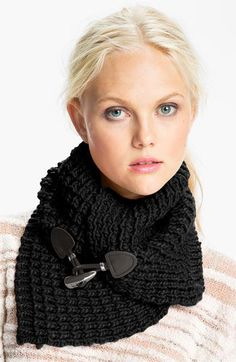 Black, MICHAEL Michael Kors Toggle Neck Warmer | Nordstrom