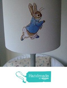 Beatrix Potter Peter Rabbit and Mrs Tittle mouse - Embroidered Handmade Nursery table Lampshade 20cm Drum. from Evie Eccles Handmade Lampshades https://www.amazon.co.uk/dp/B01MSHJI5I/ref=hnd_sw_r_pi_dp_B.phyb53JX46P #handmadeatamazon