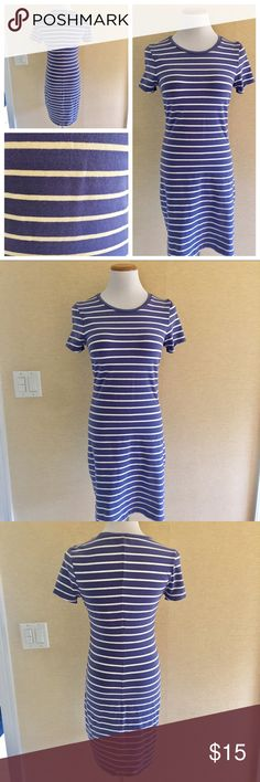 Periwinkle blue and white striped dress size Small Periwinkle blue and white striped dress size Small. Cotton and stretchy. Super comfortable summer dress. Old Navy Dresses Mini