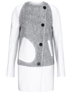 Dove Grey Wool Galak Coat | Eudon Choi