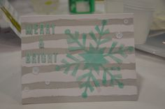 Stampin' Up! demonstrator Maria D's project showing a fun alternate use for the Watercolor Winter Simply Created Card Kit.
