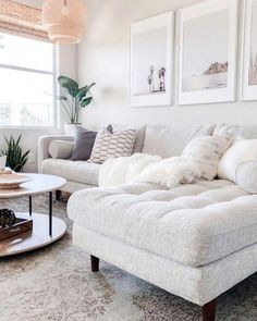Living Room Decor Discover Sven Birch Ivory Right Sectional Sofa My Living Room, Home And Living, Living Room Furniture, Modern Living, Neutral Living Room Sofas, Living Room With Sectional, Ivory Living Room, Living Room Decor Simple, Decorating Small Living Room