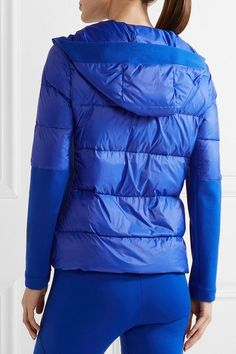 Fendi - Roma Stretch-jersey And Quilted Shell Down Jacket - Bright blue - IT