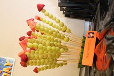 Rocket shaped fruit kebabs - either make them up in advance or this could be a fun party activity, either have the fruit pre-cut for younger children then help them create their own fruit rocket or for older children let them cut out their own shapes using mini cookie cutters.