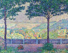 Paul Signac - Terrace of Meudon, 1899. Картины с аукционов Sotheby `s