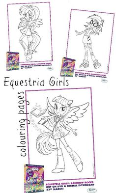 free printable my little pony equestria girls colouring pages for kids