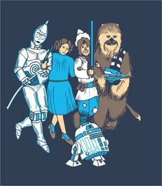 Star Wars mixed with Wizard of Oz Star Wars Art, Star Trek, Starwars, Dark Vader, Star Wars Jokes, Star Wars Costumes, Geek Out, Princess Leia, Wizard Of Oz