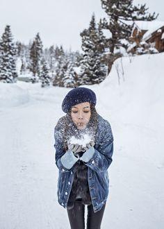 Frosty Land – http://tsangtastic.com | Instagram @tsangtasic   Travel, Mammoth Lakes, Winter Wonderland, Snow Style, Winter Style, Denim Jacket