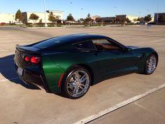 Lime Rock Green C7 Corvette