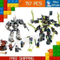 33.99$  Buy here  - 754pcs Bela 2016 new 10399 Ninja Titan Mech Battle building blocks fascinating Nya Zane Jay Compatible with Lego