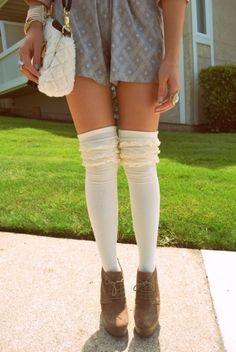 Frilly over the knee socks + those shoes Inspiration Thigh High Boots Heels, Thigh High Socks, Knee Socks, Tall Socks, Heel Boots, Fashion Tag, Fashion Socks, Womens Fashion, Latex Fashion