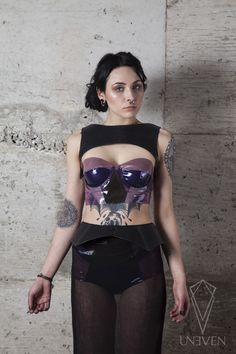 Crystal Cluster latex bustier and Panties Protection Leather Plastron and Belt Deep Sea Skirt Amethyst Crystal, Crystal Cluster, Water Movement, Leather Harness, Vegetable Tanned Leather, Latex, Lingerie, Pure Products, Model