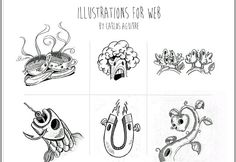 Illustrations for web