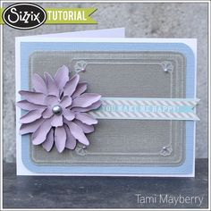 Sizzix Die Cutting Tutorial | Button Card by Tami Mayberry, using Tattered Florals die